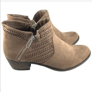 NEW! AMERICAN RAG Brown Faux Suede Bootie Boots